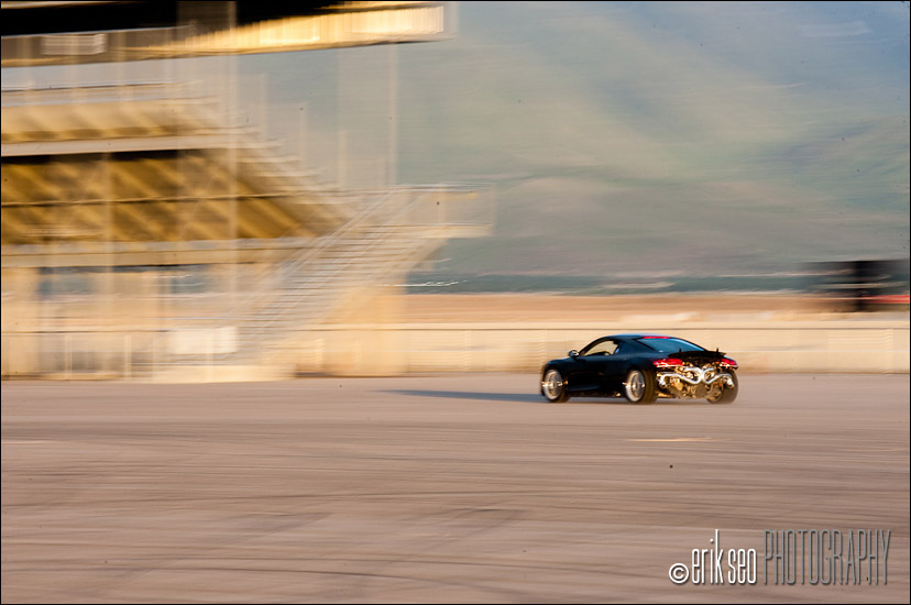The first test run out in the paddock at Miller Motorsports Park