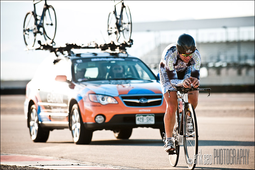 Crossing over from the West side of the course to the East at Miller Motorsports Park for Stage 3 of the Tour of Utah