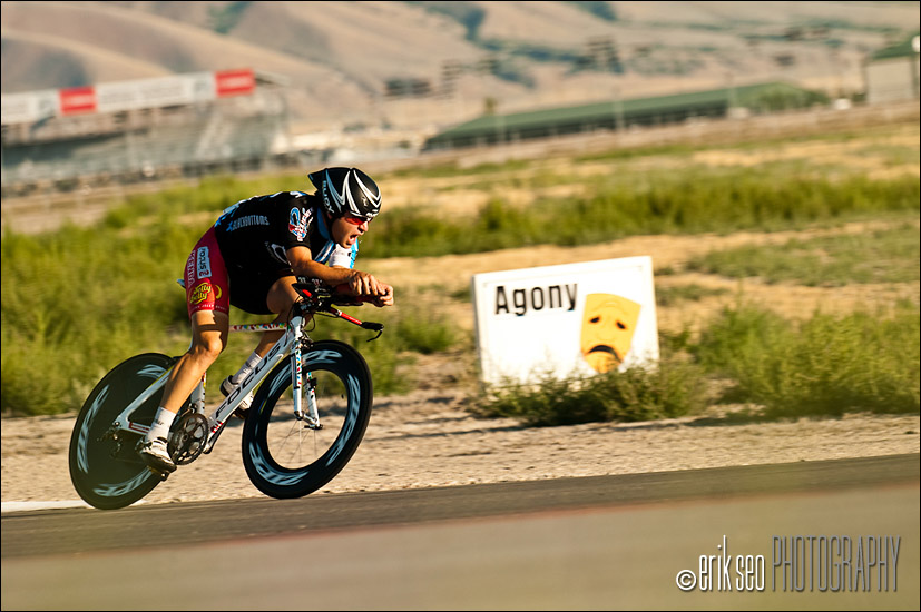 The O-face instead of Agony at turn 15 Crossing over from the West side of the course to the East at Miller Motorsports Park for Stage 3 of the Tour of Utah