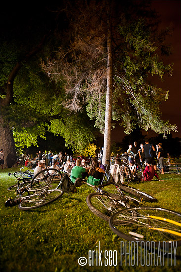The gathering at Liberty Park