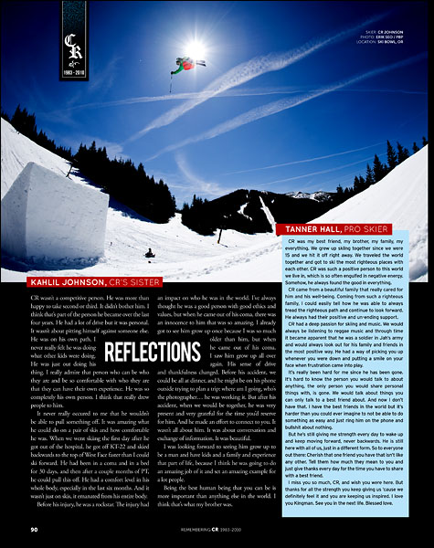 CR Johnson at Mt. Hood Ski Bowl, OR with PBP - p90 - October 2010 Freeskier Magazine