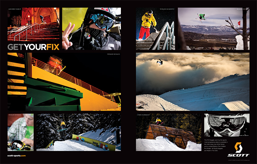 Scott USA collage ad - Freeskier Magazine - December 2010