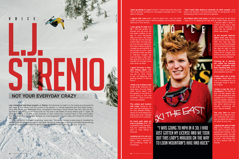 December 2010 Powder Magazine - LJ Strenio Voice Profile