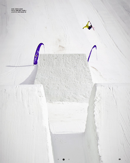Freeskier Magazine - February 2011 - P23 - Chris Logan - Sun Valley, Idaho - Level 1 Productions