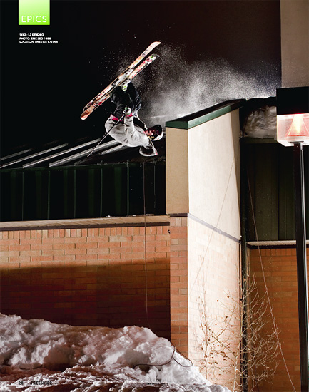 Freeskier Magazine - February 2011 - P28 - LJ Strenio - Park City, Utah - 4Bi9 Media