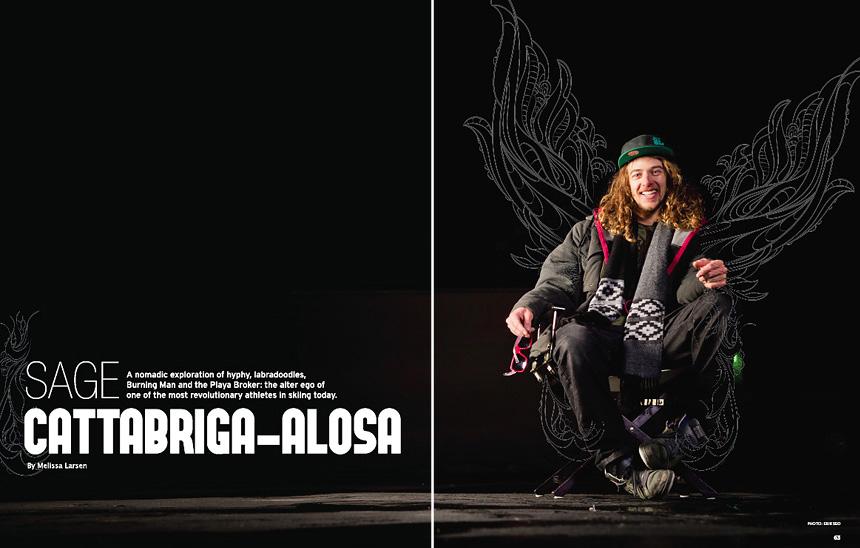 Freeskier Magazine - February 2011 - pp62-63 - Sage Cattabriga-Alosa