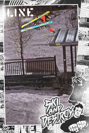 Line Skis Poster - Will Wesson