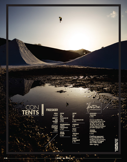 Freeskier Magazine 2013 Photo Annual - p8 - Niklas Ericsson at Sun Valley Resort, Idaho - Level 1 Productions