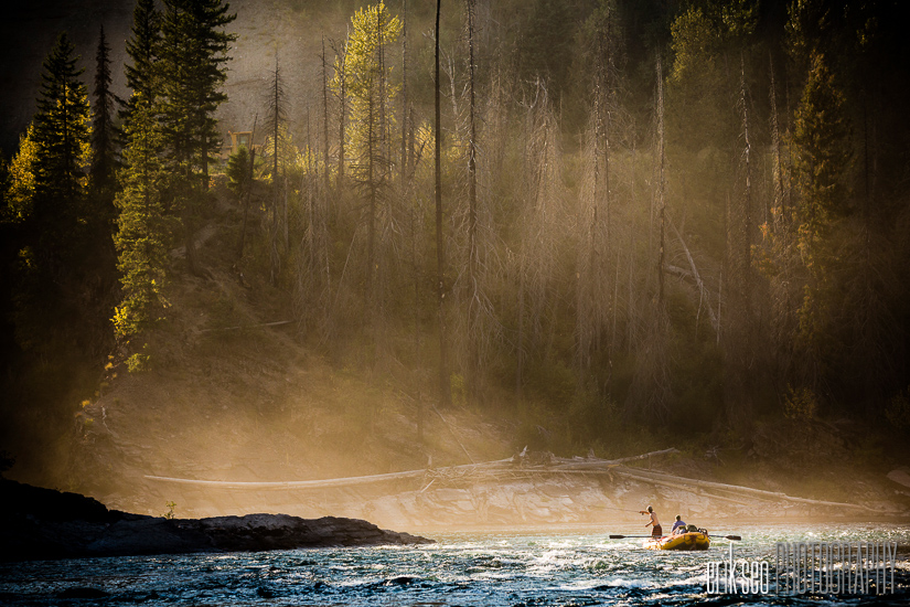 Final day floating down the North Fork of the Flathead River to the pull out