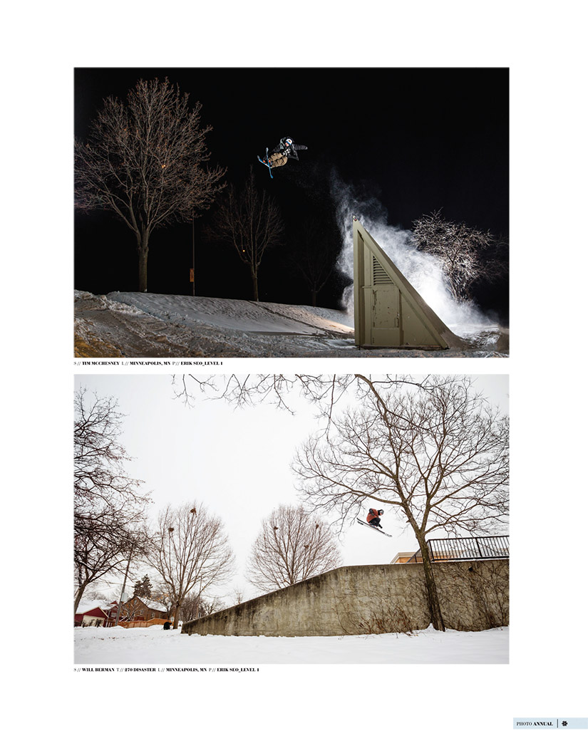 2015 Freeskier Photo Annual p85 - Tim McChesney & Will Berman